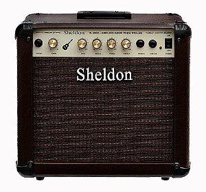 Amplificador de Violão Sheldon VL 3800 - 40 Watts RMS - Marrom