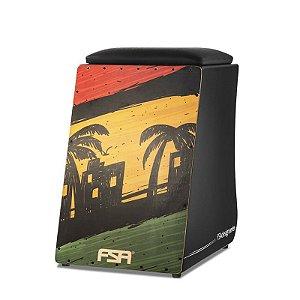 Cajon Elétrico FSA Design - Captação Dupla - Reggae