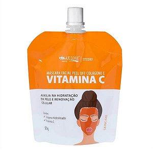 Máscara facial peel off Vitamina C - Max Love