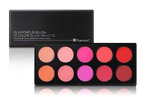 Paleta com 10 Blushes Glamorous - BH Cosmetics