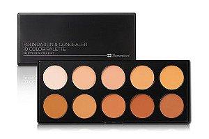 Paleta com 10 Bases e Corretivos - BH Cosmetics