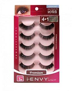 Caixa 5 pares cílios postiços KPEM13BR - First Kiss