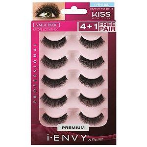 Caixa 5 pares Cílios Postiços KPEM12BR - First Kiss