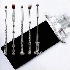 Kit com 5 Pincéis de Metal Varinhas