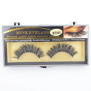 Par de Cílios Postiços Pelo de Mink Modelo 3D - MT005