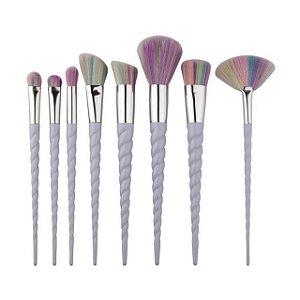 Kit com 8 pincéis lilás de Unicórnio