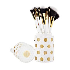 Kit com 11 Pincéis Branco Dot Collection - BH Cosmetics