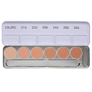 Paleta de corretivo Dermacolor D1W-D6W - Kryolan