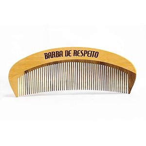 Pente de madeira barba e cabelo - Barba de Respeito