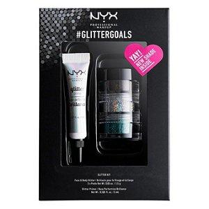 Kit Glitter + Primer #glittergoals - NYX