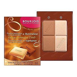 Duo Bronzer e Iluminador Delice de Poudre 55 - Bourjois
