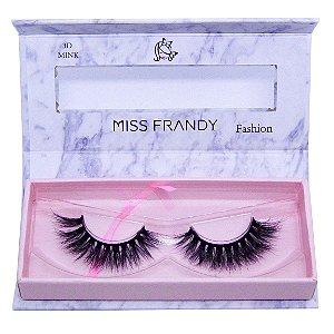 Cílios postiços efeito Mink 6D 60 - Miss Frandy