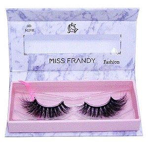 Cílios postiços efeito Mink 6D 88 (0402) - Miss Frandy