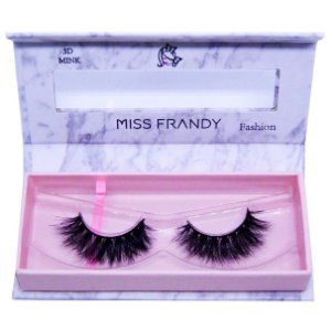 Cílios postiços efeito Mink 6D 40 (0404)- Miss Frandy