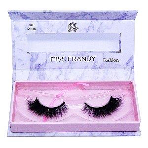 Cílios postiços efeito Mink 6D 46 - Miss Frandy