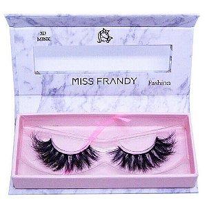 Cílios postiços efeito Mink 6D 66 (0403) - Miss Frandy