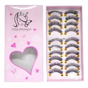 Caixa 10 pares Cílios Postiços C25 - Miss Frandy