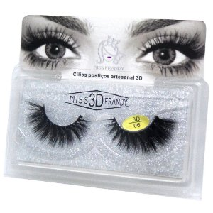 Caixa par de cílios postiços 3D 06 - Miss Frandy