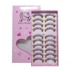 Caixa 10 pares Cílios Postiços B11 - Miss Frandy