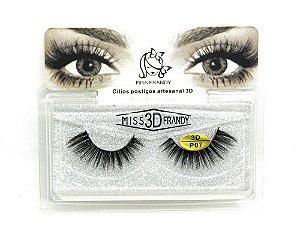 Caixa par de cílios postiços 3D P07 - Miss Frandy