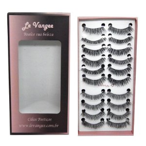 Caixa cílios postiços 10 pares #16+2 - Le Vangee