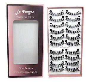Caixa cílios postiços 10 pares #8T1 - Le Vangee