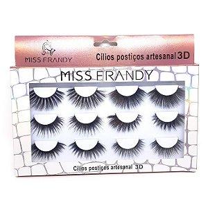 Caixa 6 pares de cílios postiços 3D - Miss Frandy
