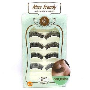 Caixa 5 pares cílios Postiços Modelo #012 - Miss Frandy