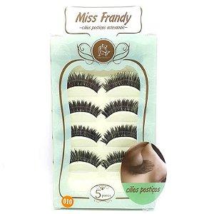 Caixa 5 pares cílios Postiços Modelo #010 - Miss Frandy