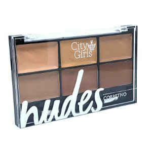 Paleta de Corretivos Nudes - City Girls