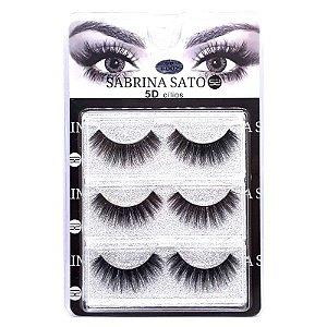 Caixa 3 pares Cílios Postiços 5D F002 - Sabrina Sato