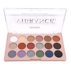 Paleta 18 cores sombras Vibrance B - SP Colors