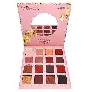 Paleta 16 cores de sombras Fashion - Mylife