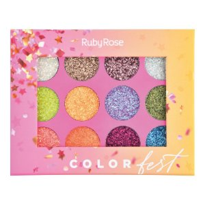 Paleta de glitter Color Fest - Ruby Rose