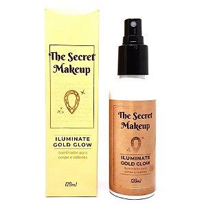 Iluminador para corpo  e cabelos Gold Glow - The Secret Makeup
