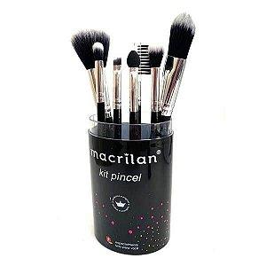 Kit com 7 pincéis para maquiagem KP9-3 - Macrilan