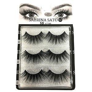 Caixa 3 pares Cílios Postiços 5D F012 - Sabrina Sato