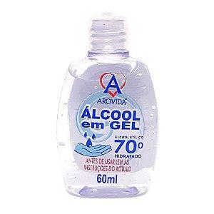 Álcool em gel 70% 60ml - Arovida