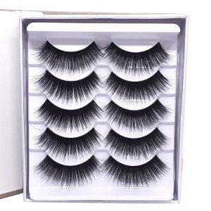 Caixa 5 pares cílios postiços 3D 0703 - Miss Frandy