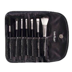 Kit  com 7 pincéis para maquiagem KP1-3E - Macrilan