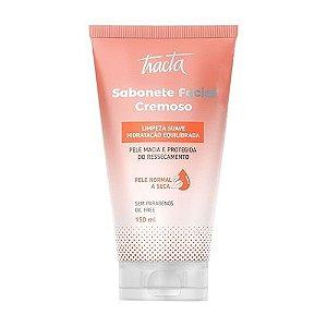 Sabonete facial cremoso pele normal e seca - Tracta