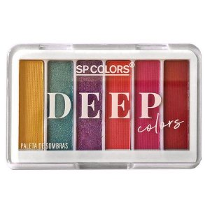 Paleta de Sombras Deep Colors cor A - SP Colors