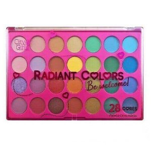 Paleta com 28 cores de Sombras Radiant Colors - City Girls