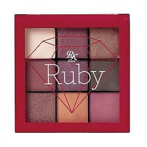 Paleta 9 cores de Sombras Ruby - Kiss New York