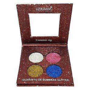 Quarteto de sombras com glitter - Ludurana