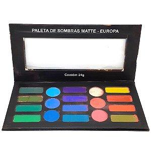 PROMO/ Paleta de sombras 18 cores Matte Europa - Ludurana