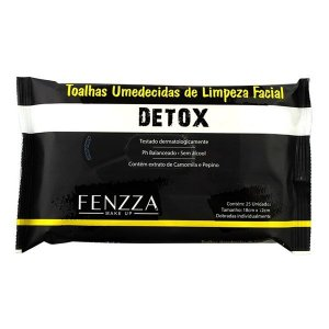 Toalhas umedecidas de limpeza facial Detox - Fenzza