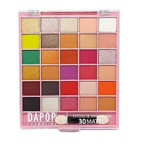 Paleta de sombras 30 cores matte - Dapop