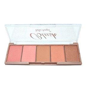 Paleta de blush 5 cores - Glox Me