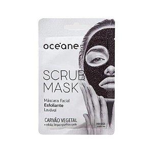 Máscara facial Scrub esfoliante Carvão Vegetal - Oceane